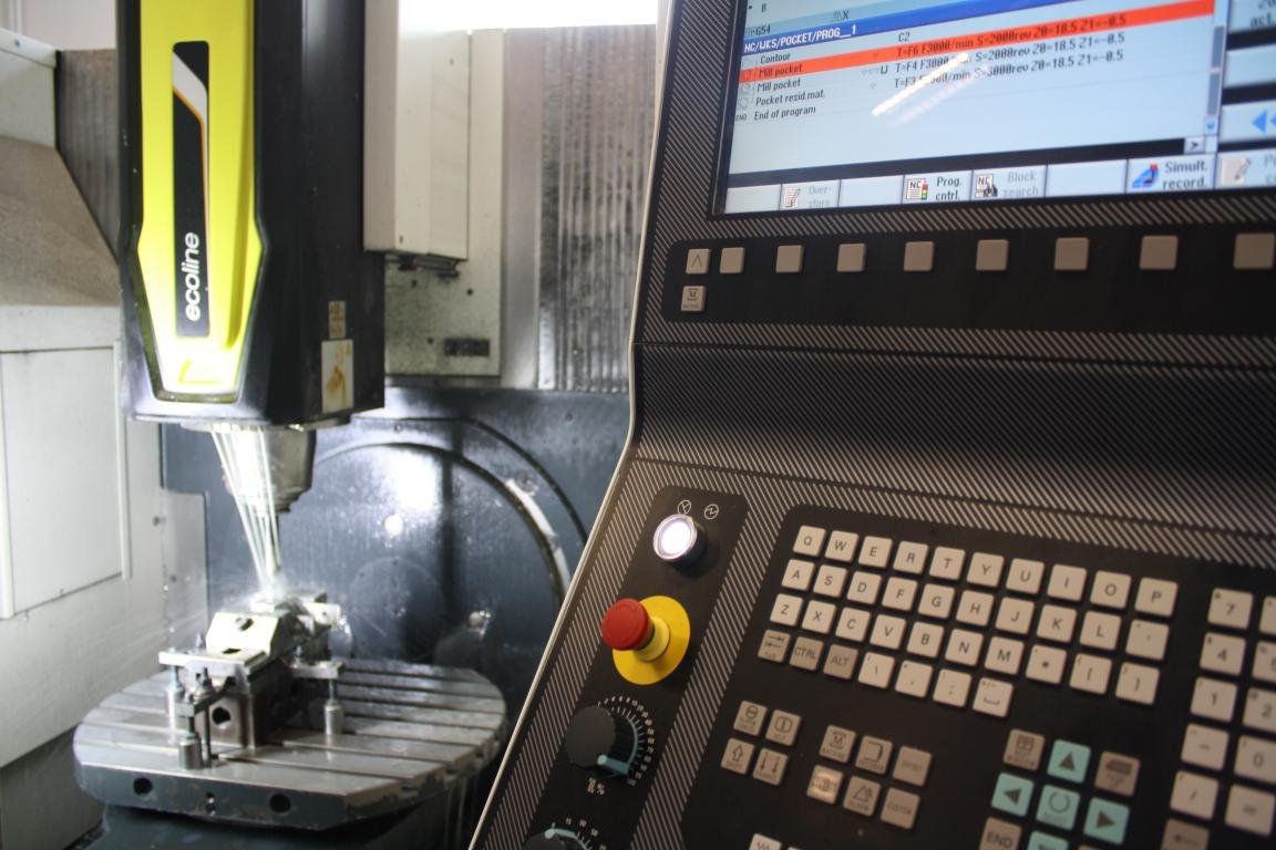 Milling 3 + 2 axes DMG numerical control after programming